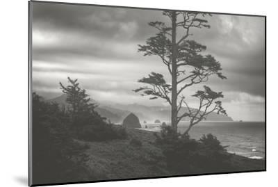 Moody Cannon Beach, Black and White, Oregon Coast-Vincent James-Mounted Photographic Print