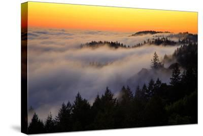 Mount Tamalpais After Sunset, Northern California-Vincent James-Stretched Canvas Print