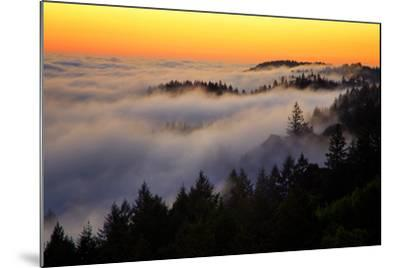 Mount Tamalpais After Sunset, Northern California-Vincent James-Mounted Photographic Print