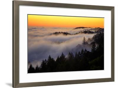 Mount Tamalpais After Sunset, Northern California-Vincent James-Framed Photographic Print
