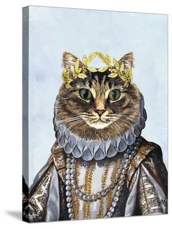 Cat Queen-Fab Funky-Stretched Canvas Print