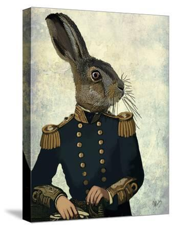 Lieutenant Hare-Fab Funky-Stretched Canvas Print