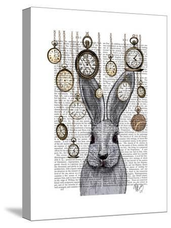 Rabbit Time-Fab Funky-Stretched Canvas Print