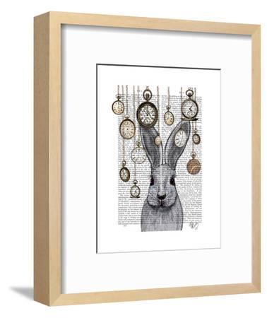 Rabbit Time-Fab Funky-Framed Premium Giclee Print