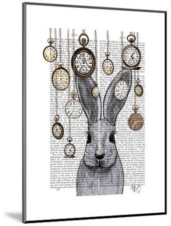 Rabbit Time-Fab Funky-Mounted Premium Giclee Print