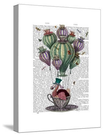 Dodo in Teacup with Dragonflies-Fab Funky-Stretched Canvas Print