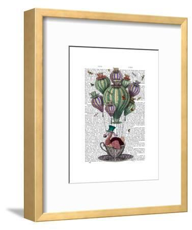 Dodo in Teacup with Dragonflies-Fab Funky-Framed Premium Giclee Print