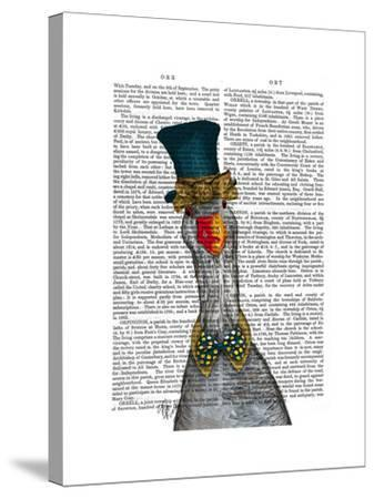 Goose in Blue Hat-Fab Funky-Stretched Canvas Print