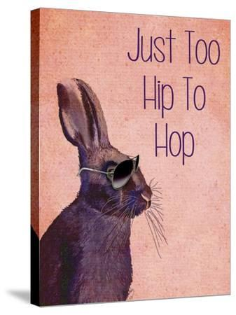 Too Hip To Hop Pink-Fab Funky-Stretched Canvas Print