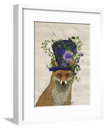 Fox Mad Hatter-Fab Funky-Framed Premium Giclee Print
