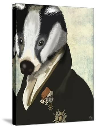 Badger The Hero-Fab Funky-Stretched Canvas Print