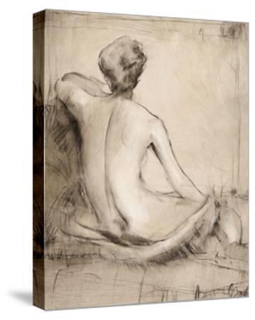 Neutral Nude Study I-Tim O'toole-Stretched Canvas Print