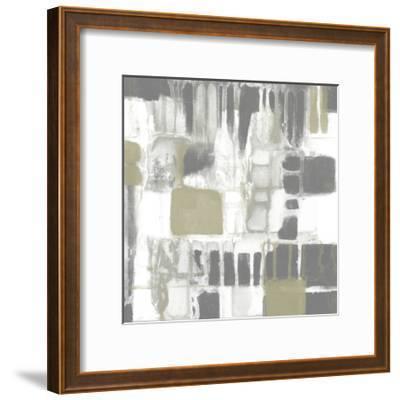 Neutral Quadrants I-Jennifer Goldberger-Framed Art Print