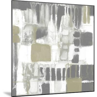 Neutral Quadrants I-Jennifer Goldberger-Mounted Art Print