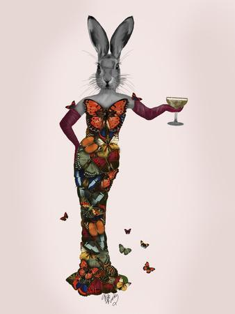 Rabbit Butterfly Dress-Fab Funky-Premium Giclee Print