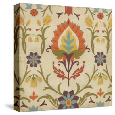 Vintage Damask II-June Erica Vess-Stretched Canvas Print