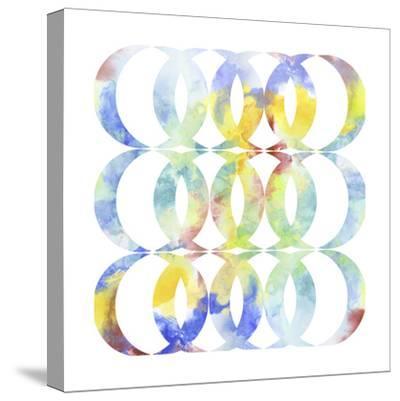 Metric Watercolors I-Jennifer Goldberger-Stretched Canvas Print
