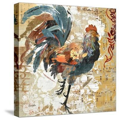 Rooster Flair I-Evelia Designs-Stretched Canvas Print