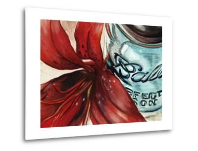 Ball Jar Flower II-Redstreake-Metal Print