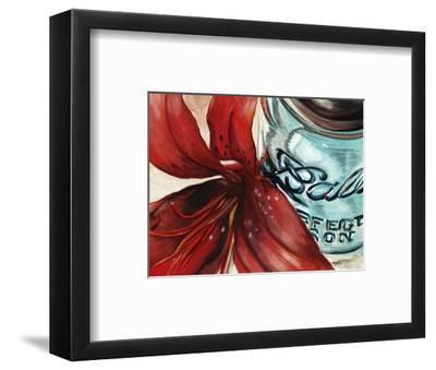 Ball Jar Flower II-Redstreake-Framed Art Print