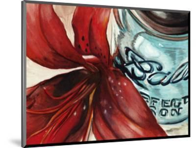 Ball Jar Flower II-Redstreake-Mounted Art Print