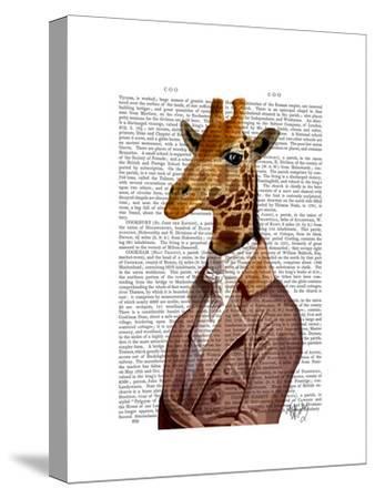 Regency Giraffe-Fab Funky-Stretched Canvas Print