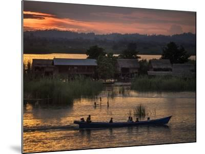 People in a Boat on the Irrawaddy River-Tino Soriano-Mounted Photographic Print