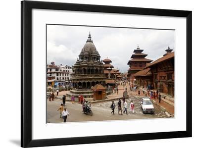 View of Patan's Durbar Square-Jill Schneider-Framed Photographic Print