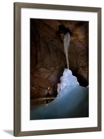 Ice Formations Inside Eisriesenwelt Eishoehle in Werfen, Austria-Robbie Shone-Framed Photographic Print