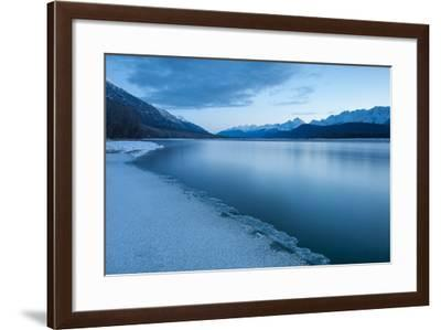 Pre-Dawn Long Exposure of the Icy Blue Chilkat River-Jak Wonderly-Framed Photographic Print