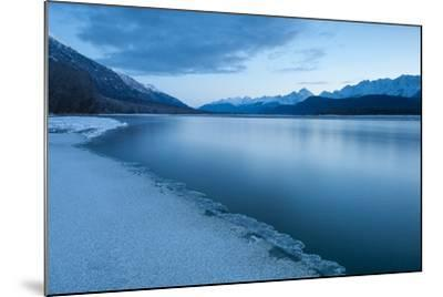 Pre-Dawn Long Exposure of the Icy Blue Chilkat River-Jak Wonderly-Mounted Photographic Print