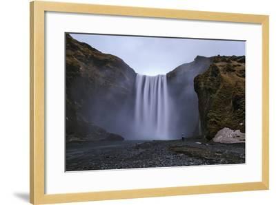 Skogafoss Waterfall, 60 Meters High, on the Skoga River on Cliffs of the Former Coastline-Babak Tafreshi-Framed Photographic Print