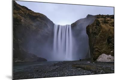 Skogafoss Waterfall, 60 Meters High, on the Skoga River on Cliffs of the Former Coastline-Babak Tafreshi-Mounted Photographic Print
