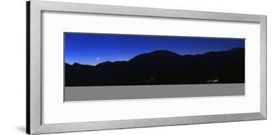 Crescent Moon at Dawn over the Alborz Mountains and Villages in the Haraz Valley of Iran-Babak Tafreshi-Framed Photographic Print