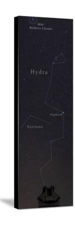 Hydra, the Largest Constellation, and the Beehive Star Cluster Above an Observatory-Babak Tafreshi-Stretched Canvas Print