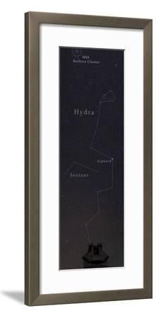 Hydra, the Largest Constellation, and the Beehive Star Cluster Above an Observatory-Babak Tafreshi-Framed Photographic Print