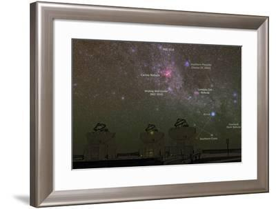 Nebulae and Star Clusters in the Milky Way over the Cerro Paranal Observatory-Babak Tafreshi-Framed Photographic Print