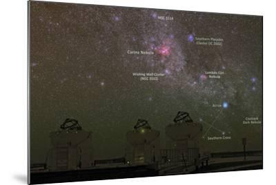Nebulae and Star Clusters in the Milky Way over the Cerro Paranal Observatory-Babak Tafreshi-Mounted Photographic Print