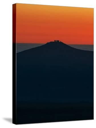 View of the Cerro Paranal Observatory's Silhouette Against the Sunset-Babak Tafreshi-Stretched Canvas Print