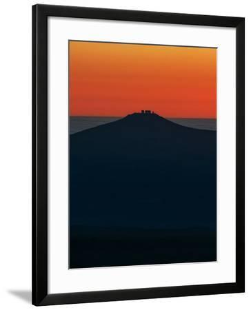 View of the Cerro Paranal Observatory's Silhouette Against the Sunset-Babak Tafreshi-Framed Photographic Print
