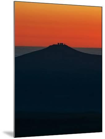 View of the Cerro Paranal Observatory's Silhouette Against the Sunset-Babak Tafreshi-Mounted Photographic Print