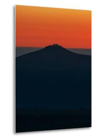 View of the Cerro Paranal Observatory's Silhouette Against the Sunset-Babak Tafreshi-Metal Print