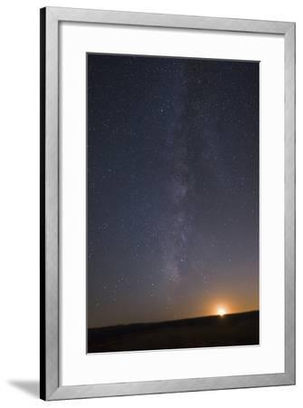 The Milky Way Stretches across the Sky as the Moon Sets-Babak Tafreshi-Framed Photographic Print