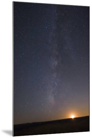 The Milky Way Stretches across the Sky as the Moon Sets-Babak Tafreshi-Mounted Photographic Print