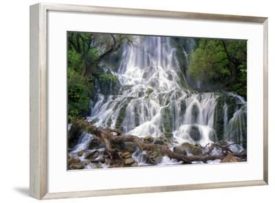 The 85 Meter-High Shevi Waterfall in the Zagros Mountains, in Southwest Iran-Babak Tafreshi-Framed Photographic Print