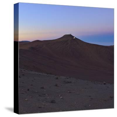 Moments before Sunrise over the Arid Atacama Desert, in Chile-Babak Tafreshi-Stretched Canvas Print