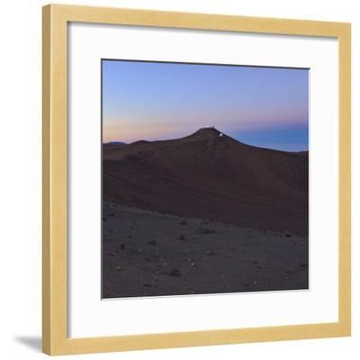 Moments before Sunrise over the Arid Atacama Desert, in Chile-Babak Tafreshi-Framed Photographic Print