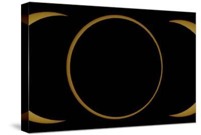 A Composite Image of an Annular Solar Eclipse-Babak Tafreshi-Stretched Canvas Print