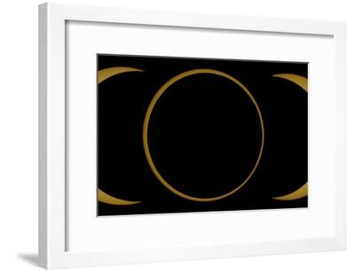 A Composite Image of an Annular Solar Eclipse-Babak Tafreshi-Framed Photographic Print