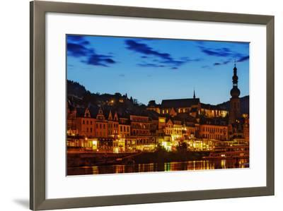 The Town of Cochem Sits on the Bank of the Moselle River-Babak Tafreshi-Framed Photographic Print